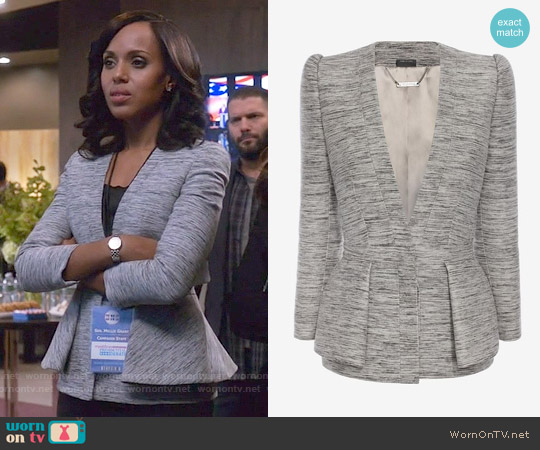 Alexander McQueen Fold Peplum Jacket worn by Kerry Washington on Scandal
