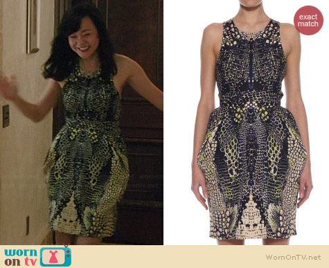 Alexander McQueen Kaleidoscope Crocodile Party Dress worn by Yunjin Kim on Mistresses