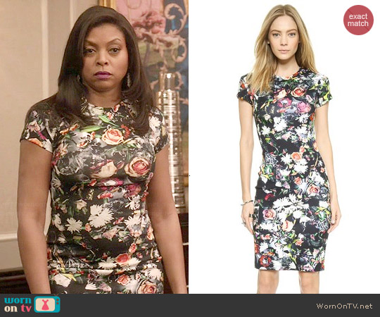 Alexander McQueen Long Body Con Floral Dres worn by Taraji P. Henson on Empire