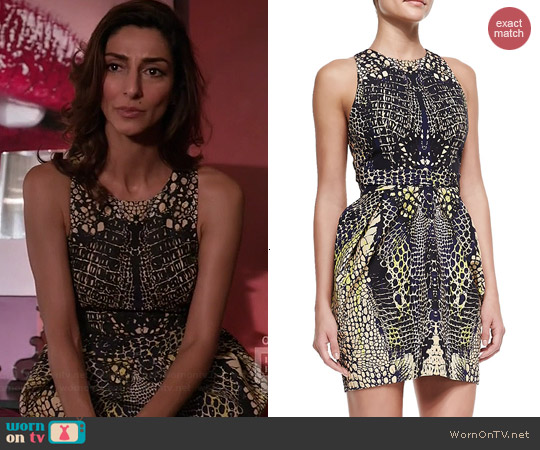 Alexander McQueen Round Neck Open Back Dress worn by Necar Zadegan on GG2D