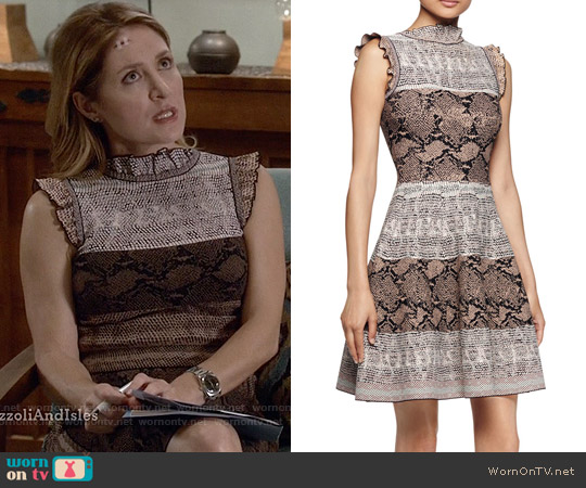 Alexander McQueen Ruffled Trim Dress worn by Sasha Alexander on Rizzoli & Isles