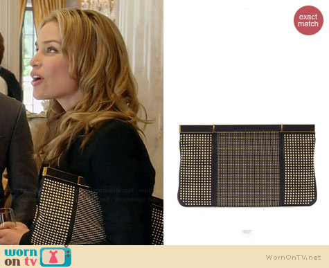 Alexander McQueen Studded Hexagon Frame Clutch worn by Piper Perabo on Covert Affairs