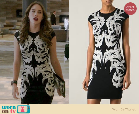 Alexander McQueen Swallow Embroidered Dress worn by Christa Allen on Revenge