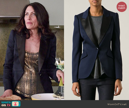 Alexander McQueen Tailored Blazer worn by Lisa Edelstein on GG2D