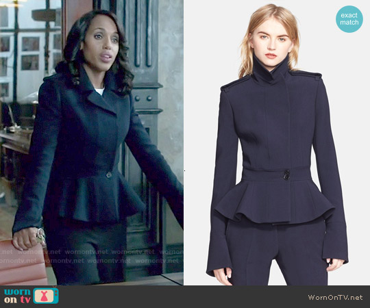 WornOnTV: Olivia's navy peplum jacket on Scandal | Kerry ...