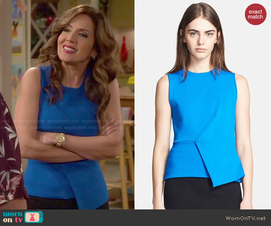 Alexander Wang Asymmetric Peplum Tank worn by Maria Canals-Barrera on Cristela