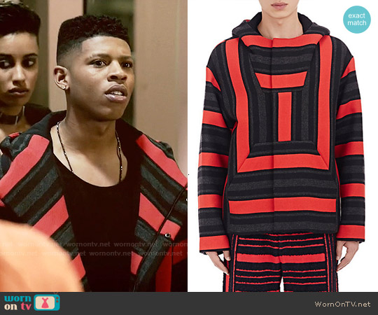 Alexander Wang Baja Striped Hooded Jacket worn by Bryshere Y. Gray on Empire