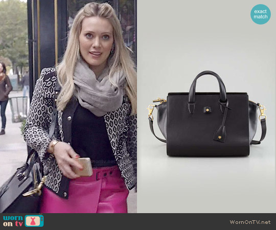Alexander Wang Pelican Structured Satchel worn by Kelsey Peters on Younger