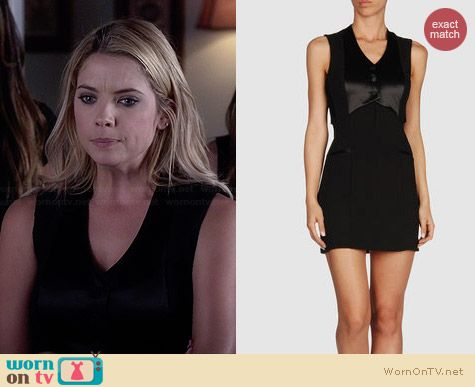 Alexander Wang Short Dress worn by Ashley Benson on PLL