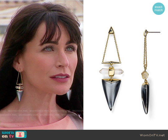 Alexis Bittar Lucite Dangling Post Drop Earrings worn by Quinn Fuller on The Bold & the Beautiful