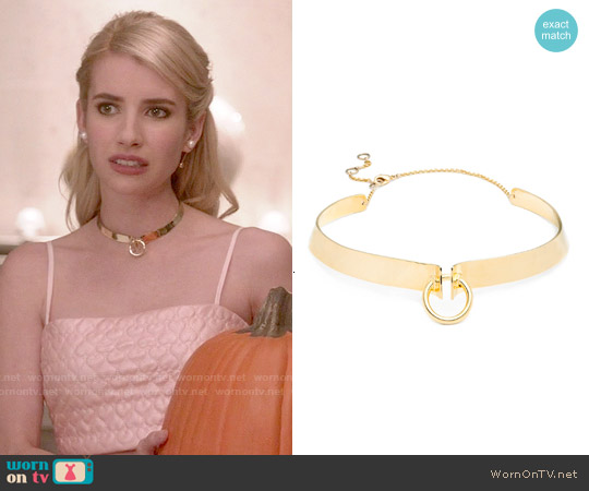 Alexis Bittar Lady O Collar worn by Emma Roberts on Scream Queens