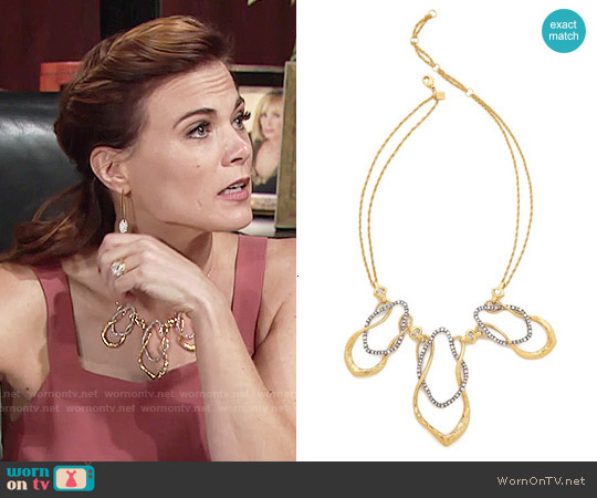 Alexis Bittar Leaf Necklace worn by Phyllis Newman on The Young & the Restless