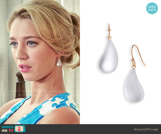 Alexis Bittar Lucite Dewdrop Earrings worn by Petra Solano on Jane the Virgin