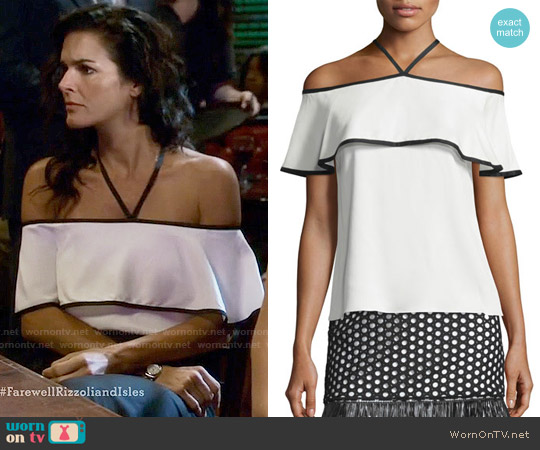 Alexis Isa Top worn by Angie Harmon on Rizzoli & Isles