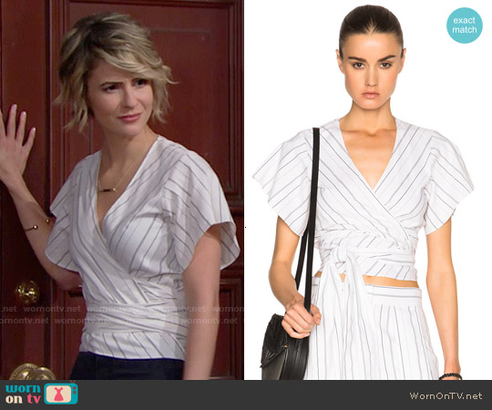 Alexis Ruban Top worn by Linsey Godfrey on The Bold & the Beautiful