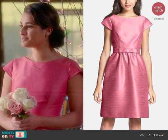 2f05d7a291e WornOnTV  Rachel s pink bridesmaid dress on Glee