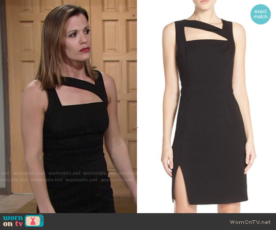 Ali & Jay Cutout Ponte Sheath Dress worn by Melissa Claire Egan on The Young & the Restless