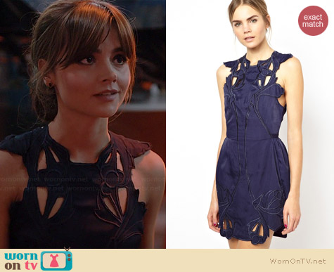 Alice McCall Sea Rose Dress with Cutwork worn by Jenna Coleman on Doctor Who