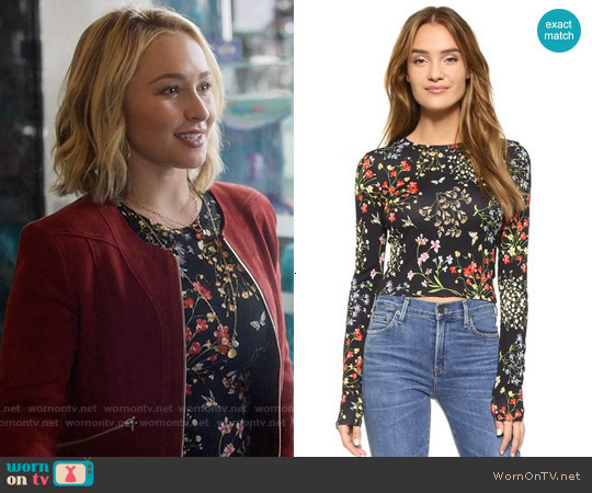 Alice & Olivia Delaina Floral Top worn by Hayden Panettiere on Nashville