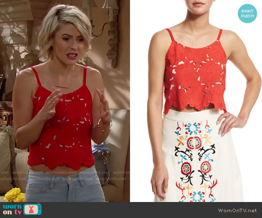 Alice & Olivia Alanis Top worn by Linsey Godfrey on The Bold & the Beautiful