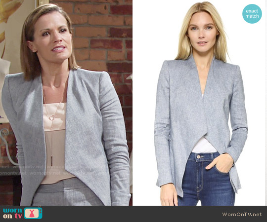 Alice + Olivia Allison Chambray Blazer worn by Melissa Claire Egan on The Young & the Restless