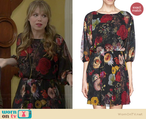 Alice & Olivia Andie Floral Dress worn by Amanda Fuller on Last Man Standing
