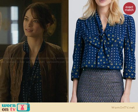 Alice & Olivia Arie Blouse worn by Krisin Kreuk on BATB