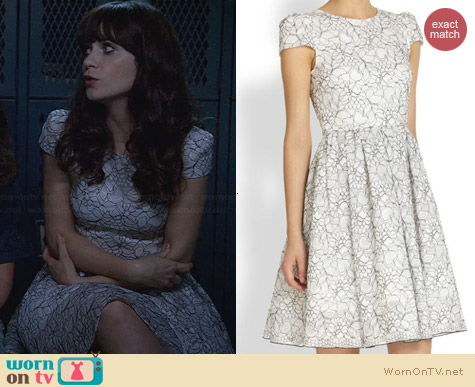Alice & Olivia Aubree Dress worn by Zooey Deschanel on New Girl