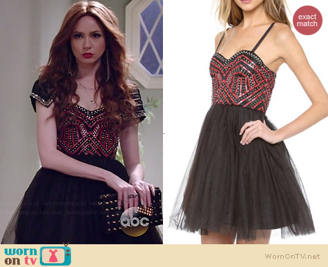 Alice & Olivia Audrie Dress worn by Karen Gillan on Selfie