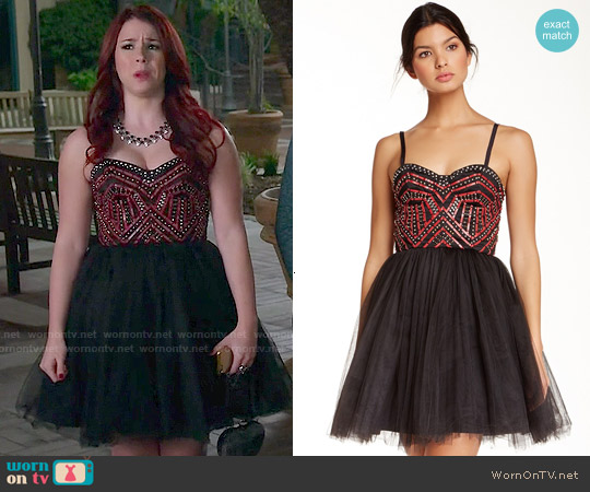 Alice & Olivia Audrie Embellished Bustier Dress worn by Jillian Rose Reed on Awkward