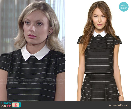 Alice & Olivia 'Blake' Top worn by Melissa Ordway on The Young & the Restless