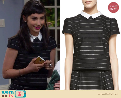Alice & Olivia Blake Boxy Top worn by Molly Ephraim on Last Man Standing