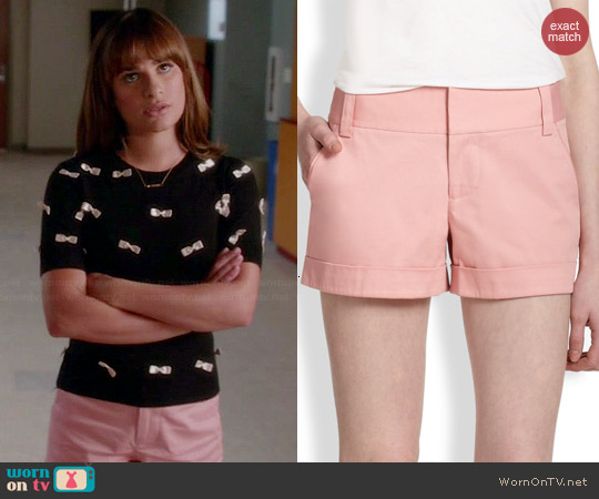 Alice & Olivia Cady Shorts in Pink Icing worn by Rachel Berry on Glee