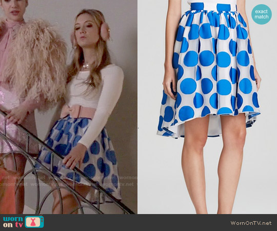 Alice & Olivia Camille Polka Dot Pouf Skirt worn by Chanel #3 on Scream Queens