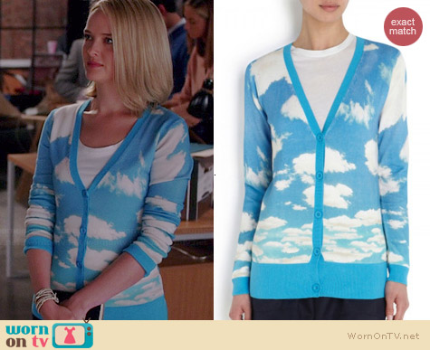 Alice & Olivia Cloud Cardigan worn by Jess Weixler on The Good Wife