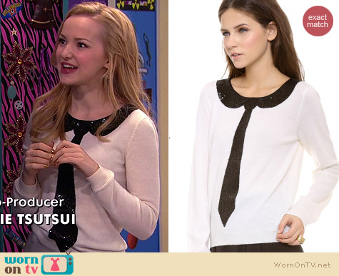 Alice & Olivia Delray Sweater worn by Dove Cameron on Liv & Maddie