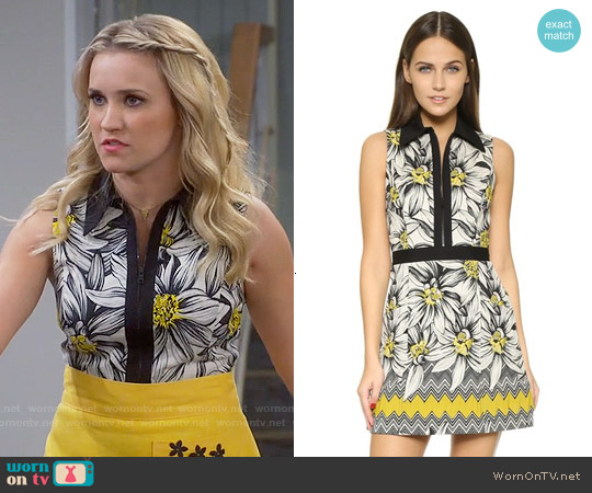 Alice & Olivia Ellis Floral Dress worn by Emily Osment on Young & Hungry