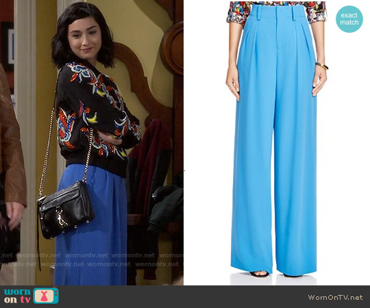 Alice & Olivia Eloise Wide Leg Pants worn by Mandy Baxter on Last Man Standing