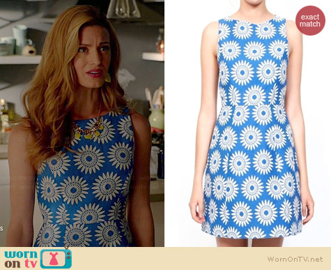 Wornontv Paige S Blue Daisy Dress On Royal Pains Brooke