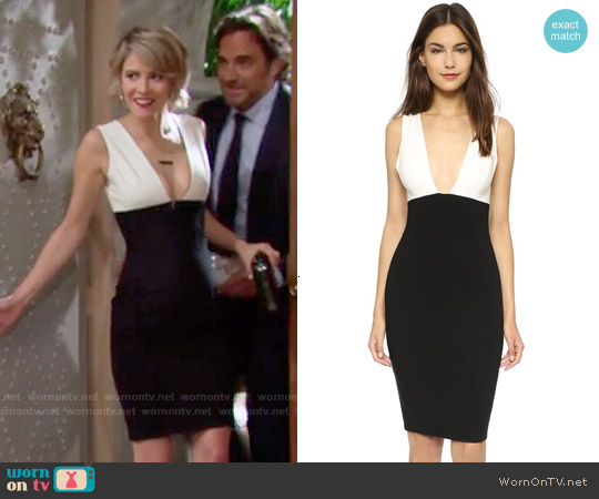 Alice & Olivia Esmira Dress worn by Linsey Godfrey on The Bold & the Beautiful