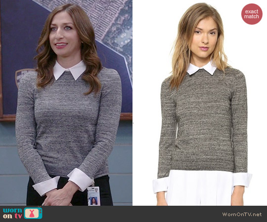 Alice & Olivia Fitted Collar Sweater worn by Chelsea Peretti on Brooklyn 99