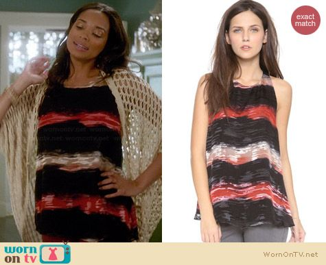 Alice & Olivia Haber Swing Tank worn by Rochelle Aytes on Mistresses