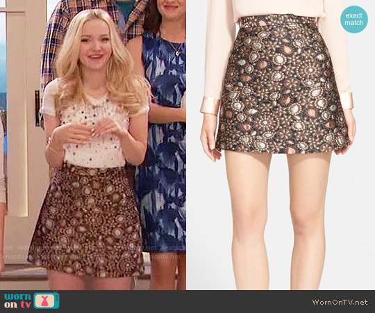 Alice & Olivia Jessa Skirt worn by Dove Cameron on Liv & Maddie