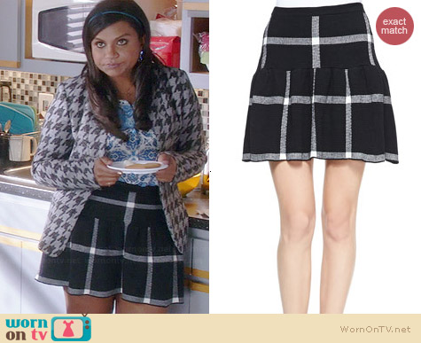 Alice & Olivia Kimbra Skirt worn by Mindy Kaling on The Mindy Project