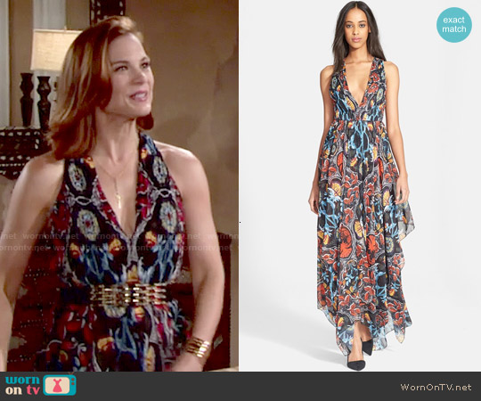 Alice & Olivia Kora Maxi Dress worn by Gina Tognoni on The Young & the Restless