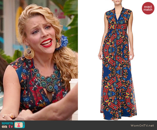 Alice & Olivia Marianna Dress in Crown Jewels worn by Busy Phillips on Cougar Town