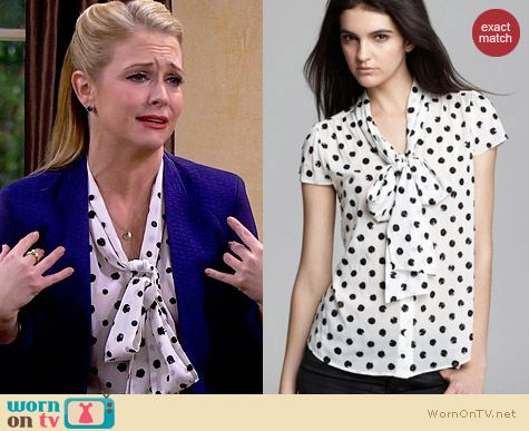 Alice & Olivia Miranda Blouse worn by Melissa Joan Hart on Melissa & Joey