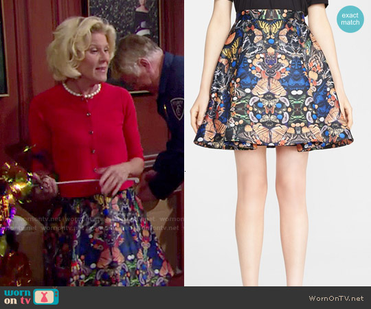 Alice & Olivia Nyla Skirt worn by Alley Mills on The Bold & the Beautiful