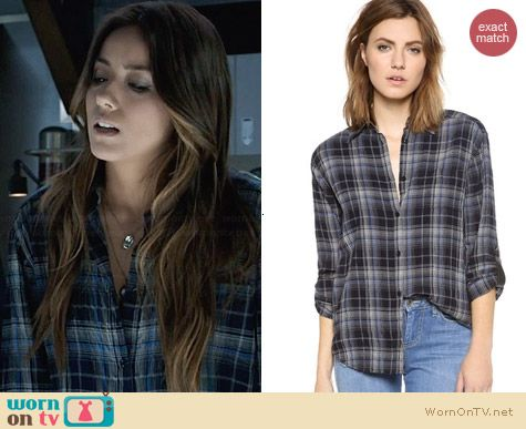Alice & Olivia Piper Shirt worn by Chloe Bennett on Agents on SHIELD