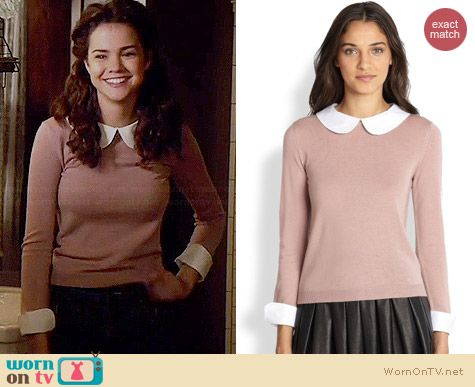 Alice & Olivia Porla Sweater in Mauve worn by Maia Mitchell on The Fosters